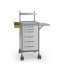 Square Medical Trolley -...