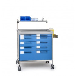 Chariot médical double -...