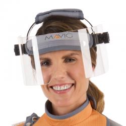 Half X-ray protective visor