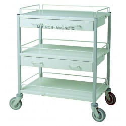 Non-magnetic trolley with 2...