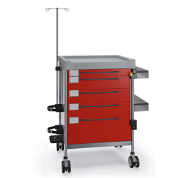 Non-magnetic emergency trolley